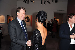 LORD MANDELSON and NANCY DELL'OLIO at the Krug Mindshare auction held at Sotheby's, New Bond Street, London on 1st November 2010.