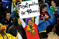 Tifosi - Supporters<br /> Brasile Corea del Nord - Brazil vs Korea DPR<br /> Campionati del Mondo di Calcio Sudafrica 2010 - World Cup South Africa 2010<br /> Ellis Park Stadium, Johannesburg 15 / 06 / 2010<br /> © Giorgio Perottino / Insidefoto
