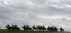 A general view of the field in The JLT Handicap Hurdle during day three of the Punchestown Festival at Punchestown Racecourse, County Kildare, Ireland.
