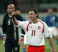 26/03/2005 WARSAW POLAND<br /> 26/03/2005 POLAND v AZERBAIJAN World Cup 2006 Qualifying Group 6 <br /> TOMASZ FRANKOWSKI CELEBRATES HIS GOAL FOR POLAND<br /> FOT: PIOTR HAWALEJ /Digitalsport