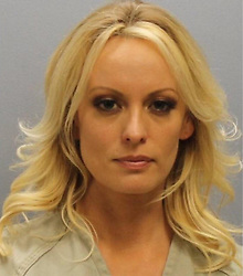 July 12, 2018 - Franklin, Ohio, U.S. - The STORMY DANIELS mugshot put out by the Franklin County Sheriff's Office. The pornographic film star Stormy Daniels, real name Stephanie Clifford, who alleges she had an affair with President Donald Trump, was arrested at an Ohio strip club, according to her lawyer. 'Stormy was arrested in Columbus Ohio performing the same act she has performed across the nation at nearly a hundred strip clubs,' Avenatti tweeted late Wednesday night. Avenatti subsequently tweeted that Daniels ''was arrested for allegedly allowing a customer to touch her while on stage in a non sexual manner. (Credit Image: © Franklin County Sheriff's Office via ZUMA Wire/ZUMAPRESS.com)