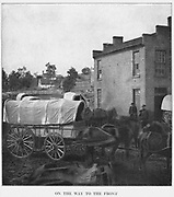 Streets of Culpeper, Virginia, in March, 1864. from the book ' The Civil war through the camera ' hundreds of vivid photographs actually taken in Civil war times, sixteen reproductions in color of famous war paintings. The new text history by Henry W. Elson. A. complete illustrated history of the Civil war