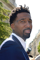 Wilson Chandler attending the Dior Homme show during the Paris Men's fashion Week Spring Summer 2018, in Paris, France on june 24, 2017. Photo by Aurore Marechal/ABACAPRESS.COM