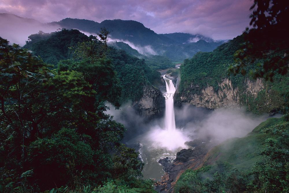 San Rafael or Coca Falls on the Quijos River, Amazon, Ecuador