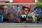 Graffiti painted on a wall. Plovdiv, Bulgaria