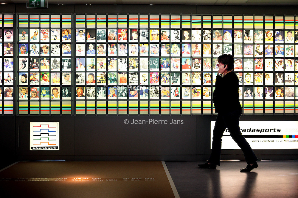 Nederland. Niewegein.15 april 2007..van Infostrada Sports..Op de foto de z.g. wall of fame van Infostrada.