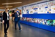 DEN HAAG, 11-02-2021 ,Montaigne Lyceum <br /> <br /> Koning Willem Alexander tijdens een werkbezoek aan het Montaigne Lyceum in de wijk Ypenburg in Den Haag. De Koning liet zich door de leraren en leerlingen informeren over de effecten van de coronapandemie en de lockdown op het voortgezet onderwijs.<br /> <br /> King Willem Alexander during a working visit to the Montaigne Lyceum in the Ypenburg district in The Hague. De Koning was informed by the teachers and students about the effects of the corona pandemic and the lockdown on secondary education.