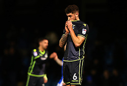 Ryan Sweeney of Bristol Rovers cuts a dejected figure after defeat to Gillingham - Mandatory by-line: Robbie Stephenson/JMP - 16/12/2017 - FOOTBALL - MEMS Priestfield Stadium - Gillingham, England - Gillingham v Bristol Rovers - Sky Bet League One