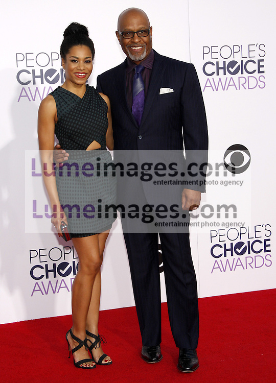 Kelly McCreary and James Pickens Jr. at the 41st Annual People's Choice Awards held at the Nokia L.A. Live Theatre in Los Angeles on January 7, 2015. Credit: Lumeimages.com