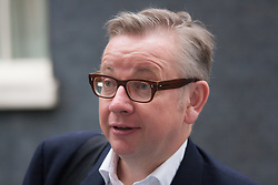 London, September 3rd 2014. Chief Whip Michael Gove leaves Downing Street ahead of Prime Minister's Question time in the House of Commons. PAYMENT/CONTACT DETAILS: paul@pauldaveycreative.co.uk Te' +44 (0) 7966 016 296 or +44 (0) 208 969 6875