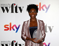 Michaela Coel received the FremantleMedia UK new talent award at the Women in Film & TV Awards at the Hilton hotel in central London.
