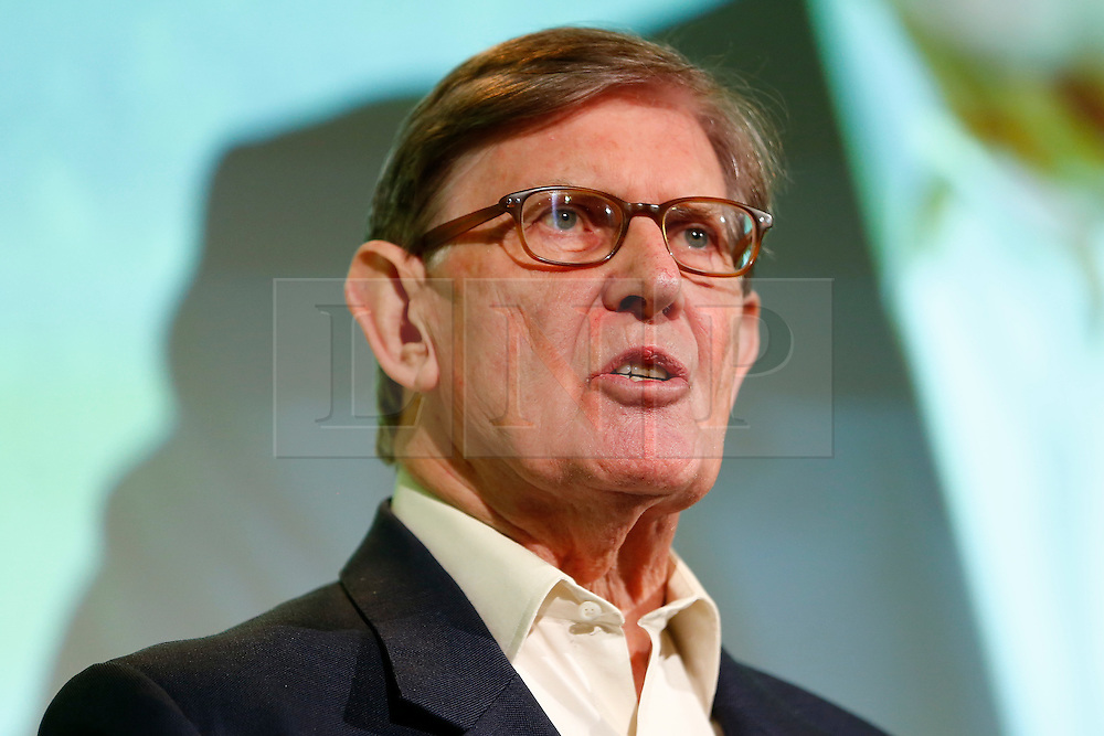 © Licensed to London News Pictures. 19/02/2016. London, UK. Sir WILLIAM (BILL) CASH speaking at a Grassroots Out rally at the Queen ElizabethII Centre in London as British prime minister David Cameron continues negotiations of UK membership of the EU. Photo credit: Tolga Akmen/LNP