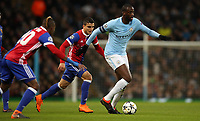 Football - 2017 / 2018 UEFA Champions League - Round of Sixteen, Second Leg: Manchester City (4) vs. FC Basel (0)<br /> <br /> Yaya Toure of Manchester City at The Etihad.<br /> <br /> COLORSPORT