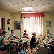 Sewing club at The Norwegian Club in Torrevieja, Spain. <br /> Photo by Knut Egil Wang/Moment/INSTITUTE