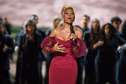 March 4, 2018 - Hollywood, California, U.S. - Oscar nominee for Best Original Song, MARY J. BLIGE performs live at The 90th Oscars at the Dolby Theatre in Hollywood. (Credit Image: © Aaron Poole/AMPAS via ZUMA Wire/ZUMAPRESS.com)