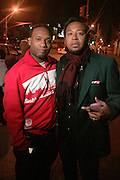 """D'Prosper and Om'mas at the Alica Keys """" As I am"""" celebration wrap party at Park on June 18, 2008"""