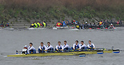Putney. London,  Imperial College 1. at the start of the 2015  Head of the River Race. Championship Course Putney to Mortlake.  ENGLAND. <br /> <br /> Sunday   29/03/2015<br /> <br /> [Mandatory Credit; Intersport-images] .   Empacher.