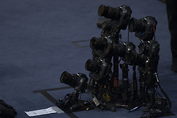 June 13, 2017 - Washington D.C, United States - Remote cameras in the well are seen before a U.S. Senate Intelligence Committee hearing on Russias meddling with U.S. elections in Washington, Tuesday, June 13, 2017. (Credit Image: © Sait Serkan Gurbuz/Depo Photos via ZUMA Wire)
