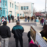 Community members gather for an interfaith tribute at the Gallup Cultural Center Monday afternoon in celebration of Martin Luther King Jr. Day in Gallup.