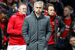 Manchester United manager Jose Mourinho walks out for the UEFA Europa League, Quarter Final match at Old Trafford, Manchester.