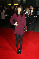 Claudia Winkleman, One Chance -  European film premiere, Odeon Leicester Square, London UK, 17 October 2013, Photo by Richard Goldschmidt