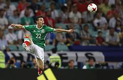 June 29, 2017 - LOZANO Hirving do México durante partida entre Alemanha x México válida pelas semifinais da Copa das Confederações 2017, nesta quinta-feira (29), realizada no Estádio Olímpico de Sochi, em Sochi, na Rússia. (Credit Image: © Rodolfo Buhrer/Fotoarena via ZUMA Press)