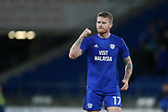 Aron Gunnarsson of Cardiff City looks on. EFL Skybet championship match, Cardiff city v Sheffield Utd at the Cardiff City Stadium in Cardiff, South Wales on Tuesday 15th August 2017.<br /> pic by Andrew Orchard, Andrew Orchard sports photography.
