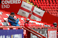 Fans back at Charlton Athletic ground, The Valley during the EFL Sky Bet League 1 match between Charlton Athletic and AFC Wimbledon at The Valley, London, England on 12 December 2020.