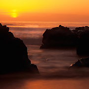 Dramatic Pacific sunset in Garapata State Park, Big Sur, CA.