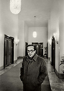 "Ismail Kadare (born January 28, 1936), a leading Albanian writer in a Tirana hotel weeks before his defection to France In 1990. Kadare claimed political asylum in France, issuing statements in favour of democratisation:  ""Dictatorship and authentic literature are incompatible... The writer is the natural enemy of dictatorship."" Kadare never claimed to be Albanias's Solzhenitsyn, arguing that such a role wasn't readily available under Hoxha's uniquely paranoid and insular regime."
