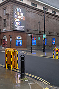 The show must go on at the Prince Edward Theatre which, prior to the Coronavirus pandemic, was showing the Mary Poppins musical on Soho's Old Compton Street in the heart of the West End's Theatreland, remains closed during England's third lockdown, on 22 February 2021, in London, England.