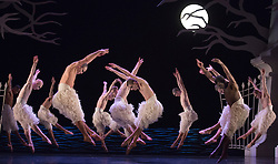 © Licensed to London News Pictures. 05/12/2013. London, England. Matthew Bourne's Swan Lake is performed at Sadler's Wells Theatre from 4 December 2013 to 26 January 2014. Photo credit: Bettina Strenske/LNP