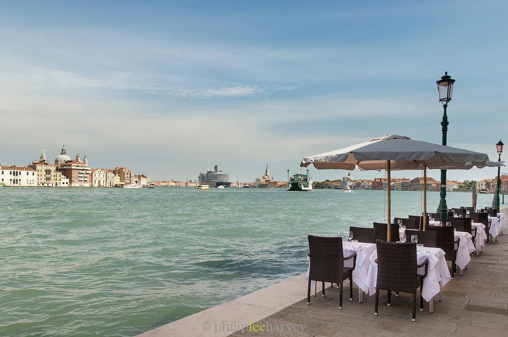 Canal side restaurant, Giudecca. Venice, Italy, Europe
