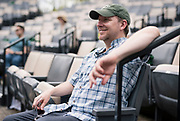 """Director John Langs cracks a smile during rehearsal for William Shakespeare's """"Twelfth Night"""" at American Players Theatre in Spring Green, WI on Thursday, May 16, 2019."""
