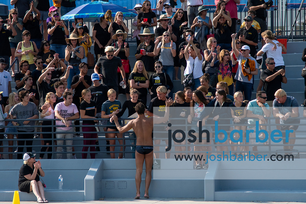 Foothill fans at William Woollett Jr. Aquatic Center on Saturday, November 10, 2018 in Irvine, Calif. (Photo by Josh Barber, Contributing Photographer)