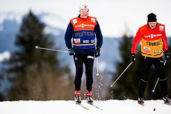 January 2, 2018 - Oberstdorf, GERMANY - 180102 Roar Hjelmeset, coach of Norway, and Torgeir BjÂ¿rn, NRK, during a training session in Tour de Ski on January 2, 2018 in Oberstdorf..Photo: Jon Olav Nesvold / BILDBYRN / kod JE / 160116 (Credit Image: © Jon Olav Nesvold/Bildbyran via ZUMA Wire)