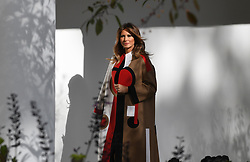 First lady Melania Trump walks the Colonnade during the National Thanksgiving Turkey pardoning ceremony in the Rose Garden of the White House in Washington, DC on November 20, 2018. Photo by Olivier Douliery/ABACAPRESS.COM