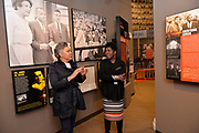 Photo ©Suzi Altman 12/5/17 Jackson,MS Pamela D.C. Junior, Director of the Mississippi Civil Rights Museum, right, gives Judy Meredith, James Meredith's  wife a private tour of the museum before its official opening on Saturday Dec. 9th. They are pictured viewing the  James Meredith and Ole Miss Riots display in the new Civil Rights Museum. President Trump is expected to attend the opening of the Mississippi Civiil Rights and History Museums. Protests are planned in response to President Trumps announced attendance of the opening of the Civil Rights Museum. Photo©SuziAltman