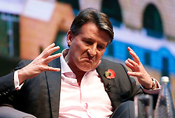 © Licensed to London News Pictures. 10/11/2015. London, UK. Sebastian Coe, the IAAF's president speaking at Microsoft's Future Decoded event at Excel convention centre in London on Tuesday, 10 November 2015. Photo credit: Tolga Akmen/LNP