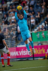 Falkirk's keeper Cammy Bell. Falkirk 1 v 1 Livingston, Livingston win 4-3 on penalties. BetFred Cup game played 13/7/2019 at The Falkirk Stadium.