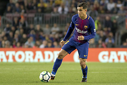 May 9, 2018 - Barcelona, Catalonia, Spain - Coutinho during the spanish football league La Liga match between FC Barcelona and Villarreal at the Camp Nou Stadium in Barcelona, Catalonia, Spain on May 9, 2018  (Credit Image: © Miquel Llop/NurPhoto via ZUMA Press)