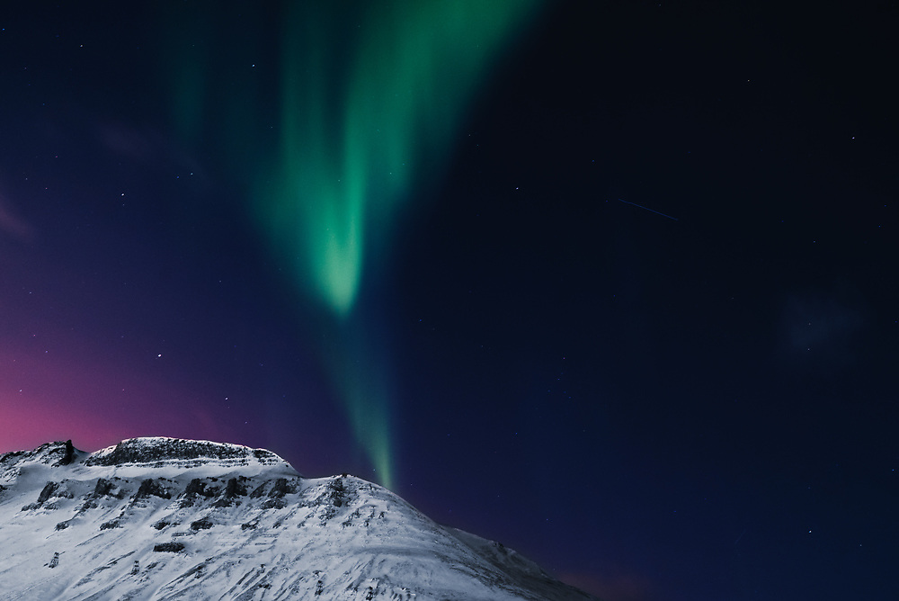 There are many reasons why Svalbard Archipelago is a unique location; and one of them is 24-hour Northern Lights. You can see the magnificent dancing colors at any time of the day.