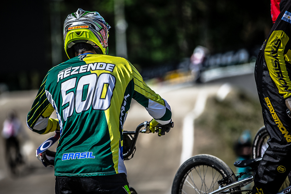 #500 (REZENDE Renato) BRA during practice at Round 5 of the 2018 UCI BMX Superscross World Cup in Zolder, Belgium