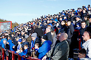 Portsmouth fans during the EFL Sky Bet League 1 match between Accrington Stanley and Portsmouth at the Fraser Eagle Stadium, Accrington, England on 27 October 2018.
