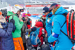 February 9, 2019 - Re, SWEDEN - 190209 Aksel Lund Svindal of Norway celebrates with fans after the men's downhill during the FIS Alpine World Ski Championships on February 9, 2019 in re..Photo: Joel Marklund / BILDBYRN / kod JM / 87853 (Credit Image: © Joel Marklund/Bildbyran via ZUMA Press)