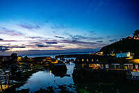 Mevagissey Harbour at night The second largest ?shing port in Cornwall photo by brian jordan