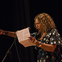 Salena Godden<br /> On stage at the Stoke Newington Literary Festival. 7 June 2015<br /> <br /> Picture by David X Green/Writer Pictures