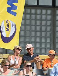 17-07-2014 NED: FIVB Grand Slam Beach Volleybal, Apeldoorn<br /> Poule fase groep A mannen - Support, publiek, Nummerdor