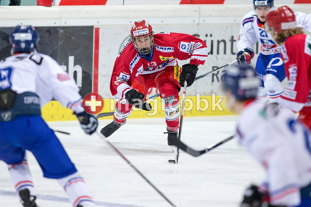 Rapperswil-Jona Lakers forward Jonas Graetzer is pictured during an Elite B Regular Season ice hockey game between Rapperswil-Jona Lakers and EHC Buelach in Rapperswil, Switzerland, Wednesday, Dec. 20, 2017. (Photo by Patrick B. Kraemer / MAGICPBK)