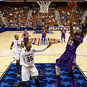 Jasmine Phillips, East Carolina, shoots during the Temple Vs East Carolina Quarterfinal Basketball game during the American Athletics Conference Women's College Basketball Championships 2015 at Mohegan Sun Arena, Uncasville, Connecticut, USA. 7th March 2015. Photo Tim Clayton